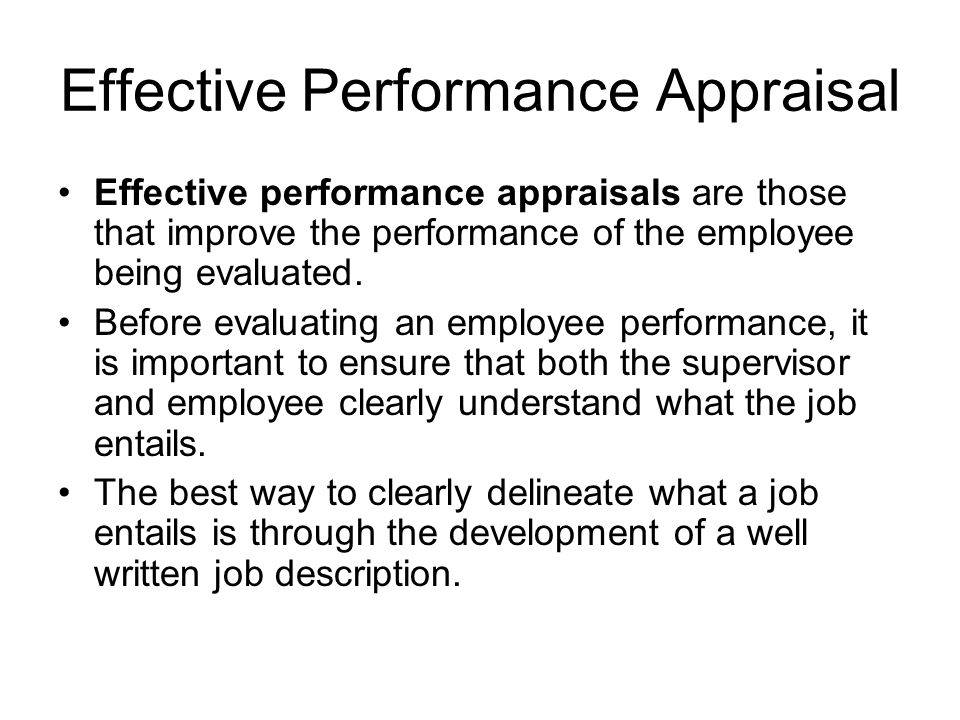 Effective Employee Evaluation Steps  Sample Ideas