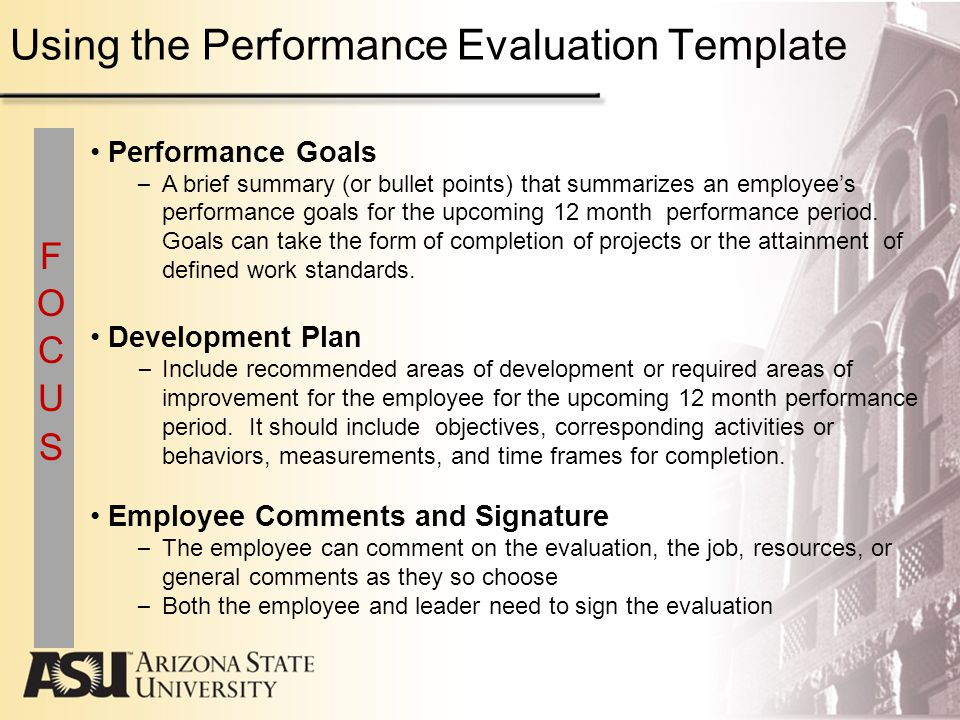 Goals Employee Performance Evaluation Linking Performance