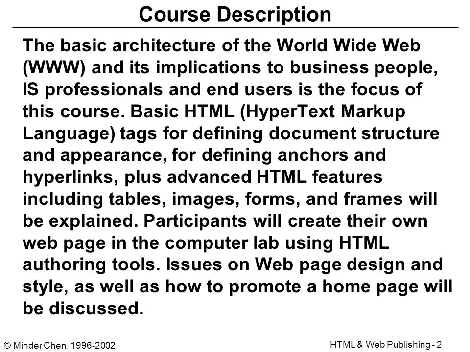 html document for the world wide web