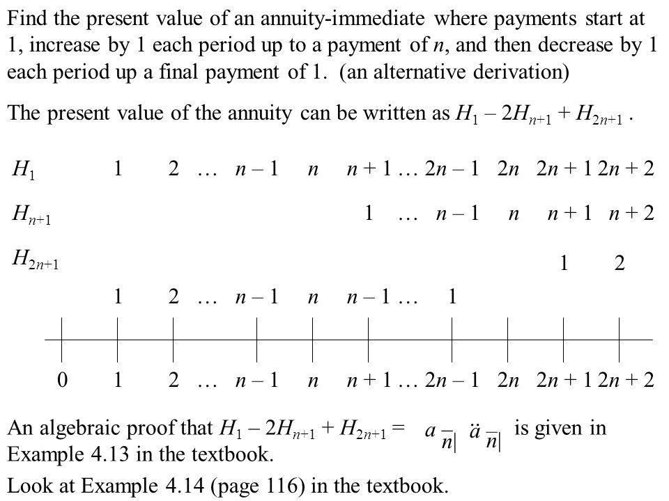 increasing annuity formula - Yenimescale - annuity equation