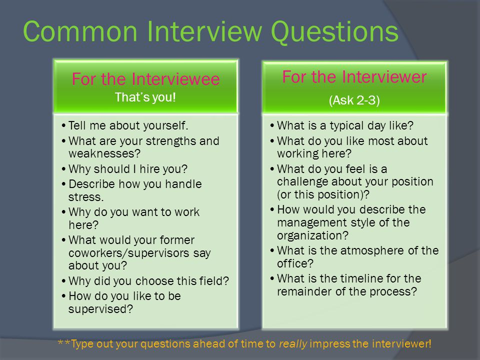 Smart Answers to Common Interview Questions - brentleemotorsports