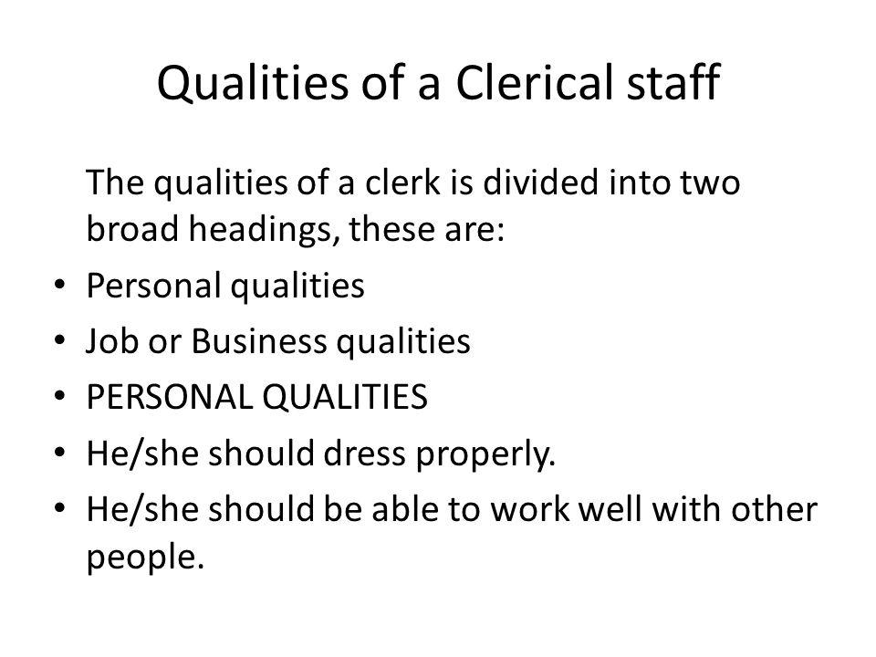 qualities resumes