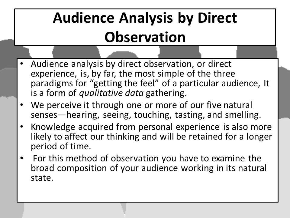 The Significance of Audience Analysis - ppt download