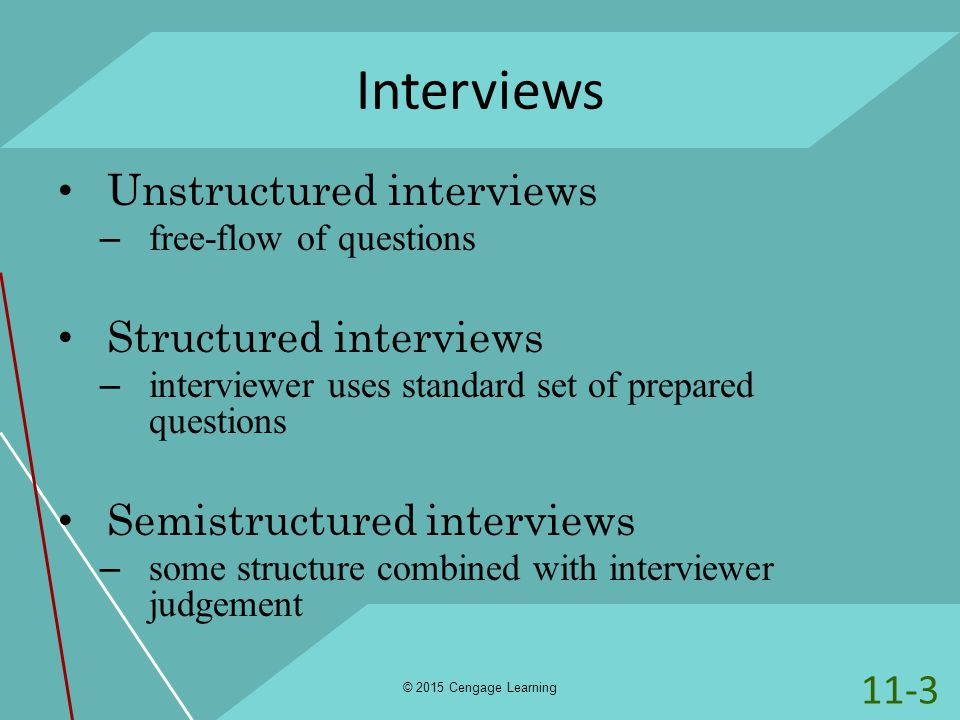 Structured behavioral interviews College paper Sample - April 2019