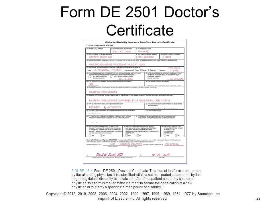 sdi form 2501 - Fashionstellaconstance - disability form