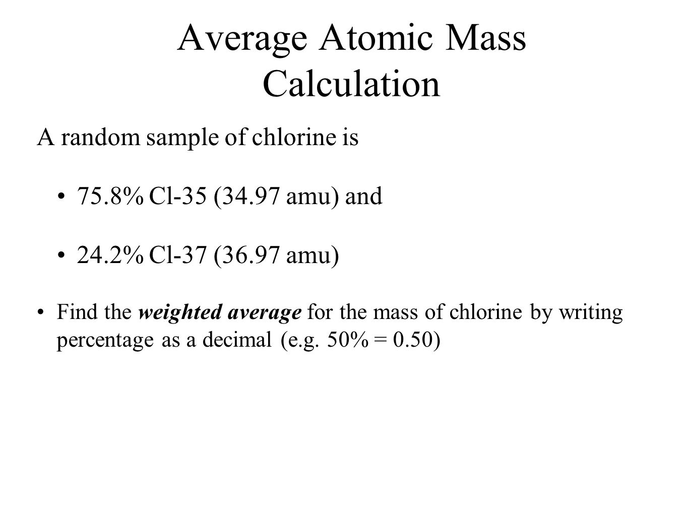5 Average Atomic Mass Calculation Download How To Calculate Weighted