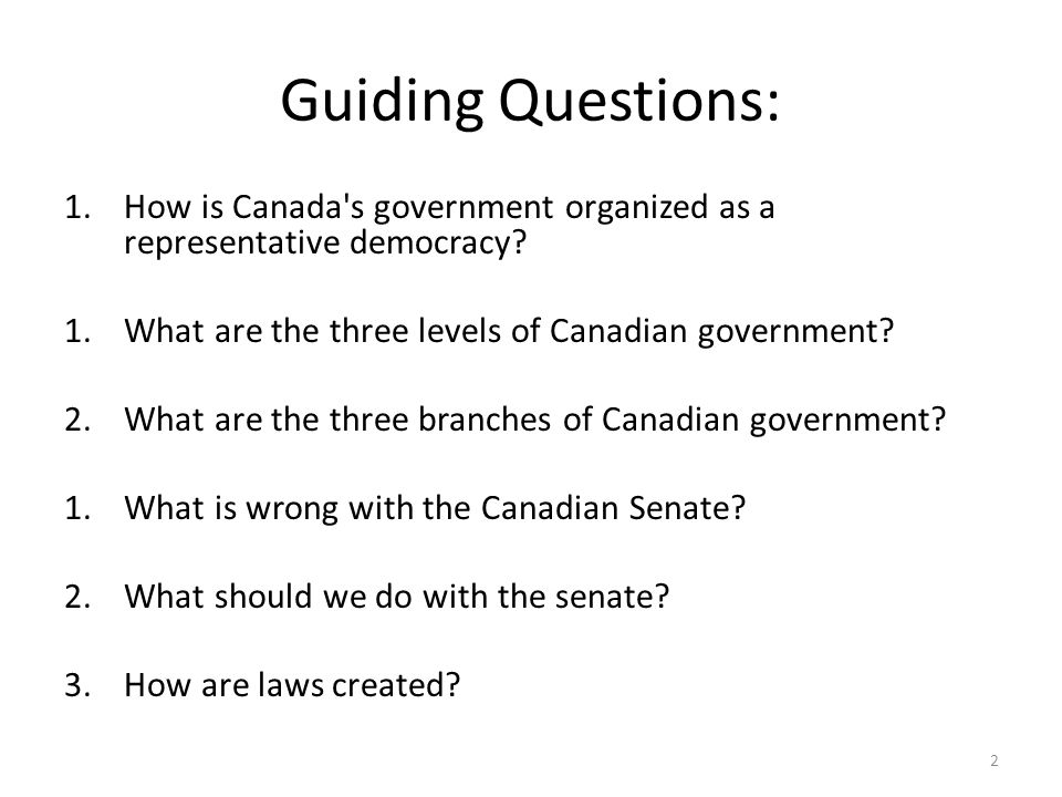 An analysis of the delegate democracy in the canadian government