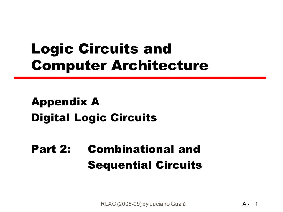 sequential digital logic circuits