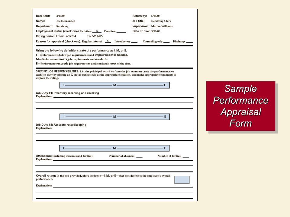 Employee Appraisal Form Sample sample hr form hr forms and – Annual Appraisal Form