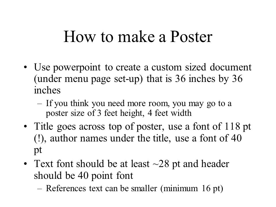 how to make a poster in power point - Vatozatozdevelopment