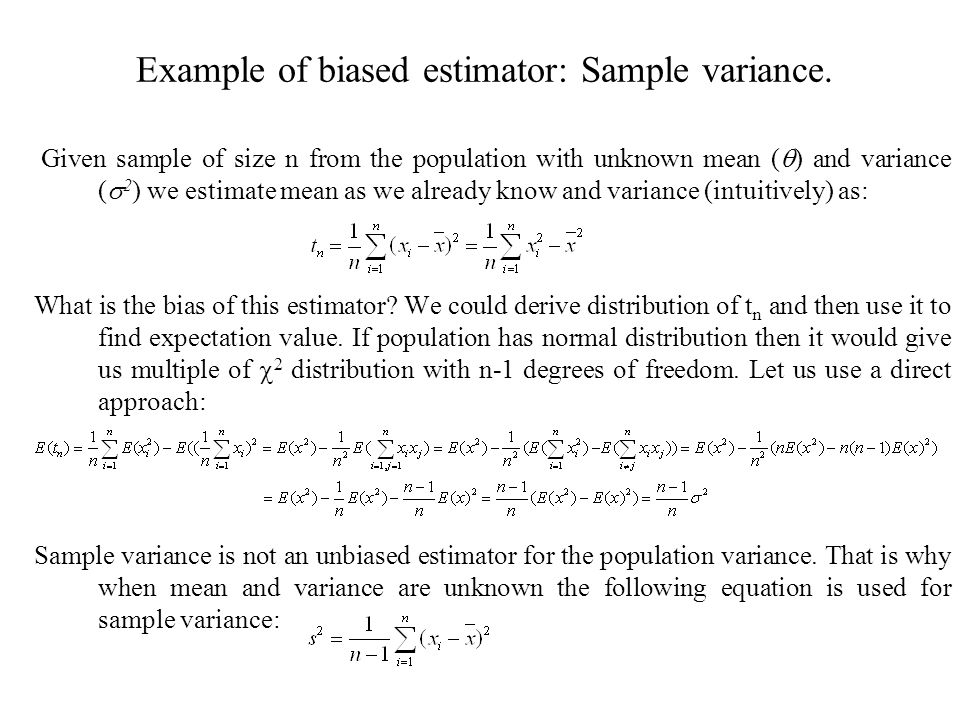 Variance Formulas Examples Solutions Videos Example Of Unbiased Sample  Variance Plymouth Dome ...