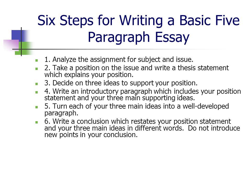 10 steps to writing a 5 paragraph essay / essay writing skills
