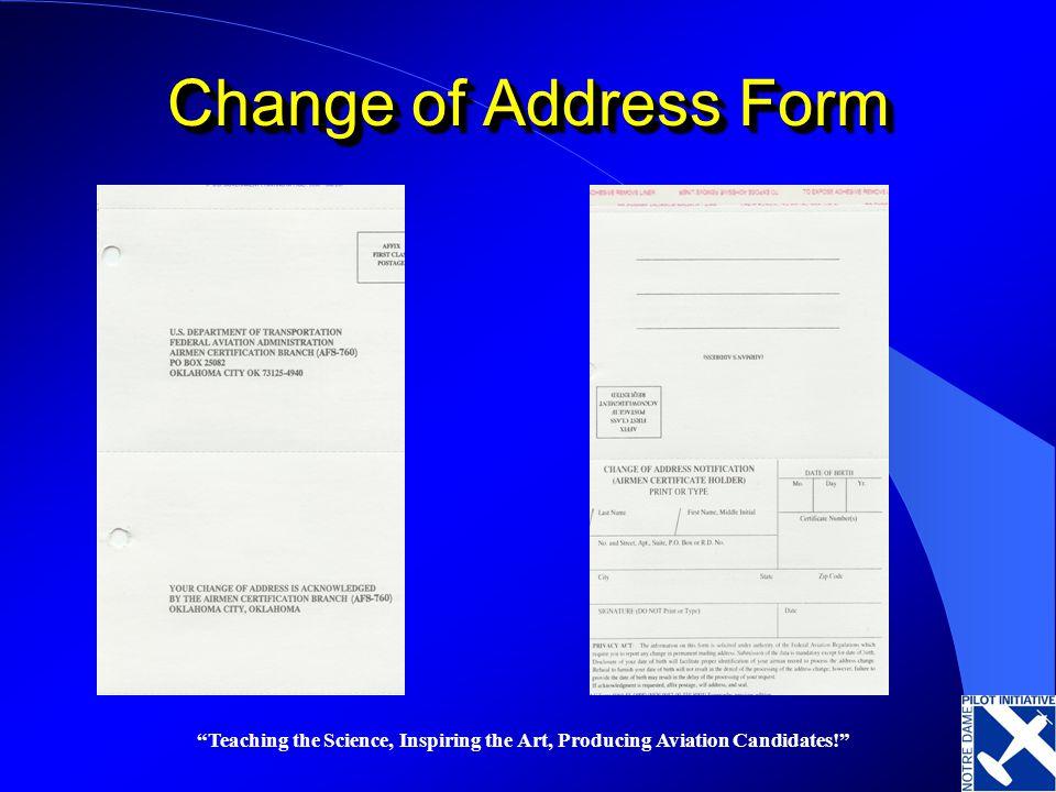 ... Federal Aviation Regulations U201cfun Stuffu201d   Ppt Video Online  Download   Print Change Of Address Form ...  Print Change Of Address Form