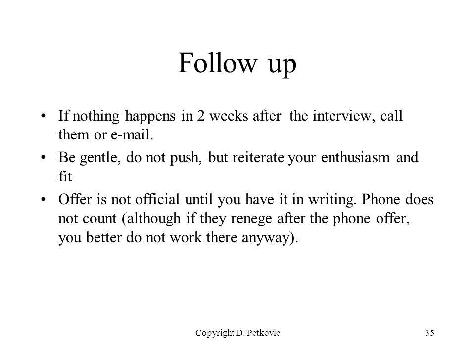 follow up interview call - Josemulinohouse