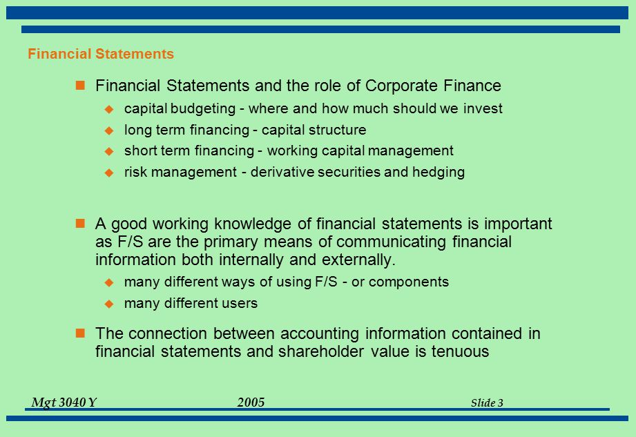 Chapter 3 Working With Financial Statements - ppt download - financial statements