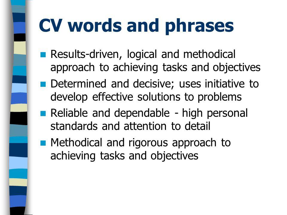 Cv Words oakandale - cv words