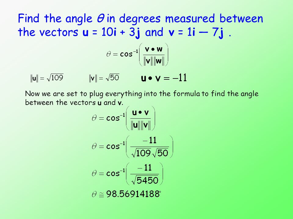 The Dot Product (MAT 170) Sections ppt video online download