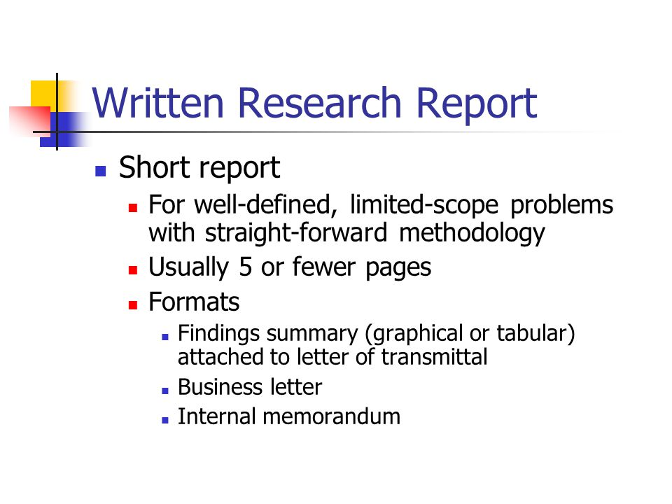 Research Methods in MIS Presenting Results Written and Oral