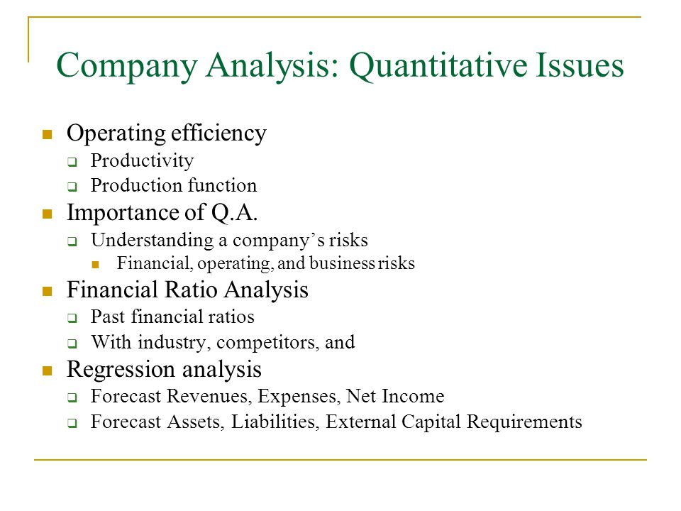 Fundamental Analysis Chapter 7 - ppt video online download - company analysis