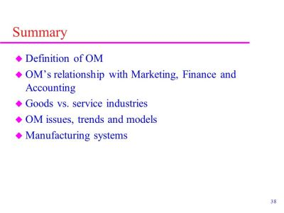 Chapter 1 INTRODUCTION TO OPERATIONS MANAGEMENT - ppt video online download