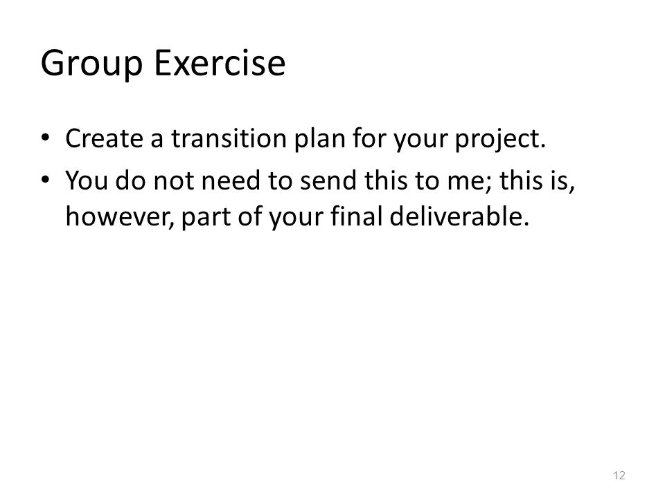 Software Project Transition Planning - ppt video online download