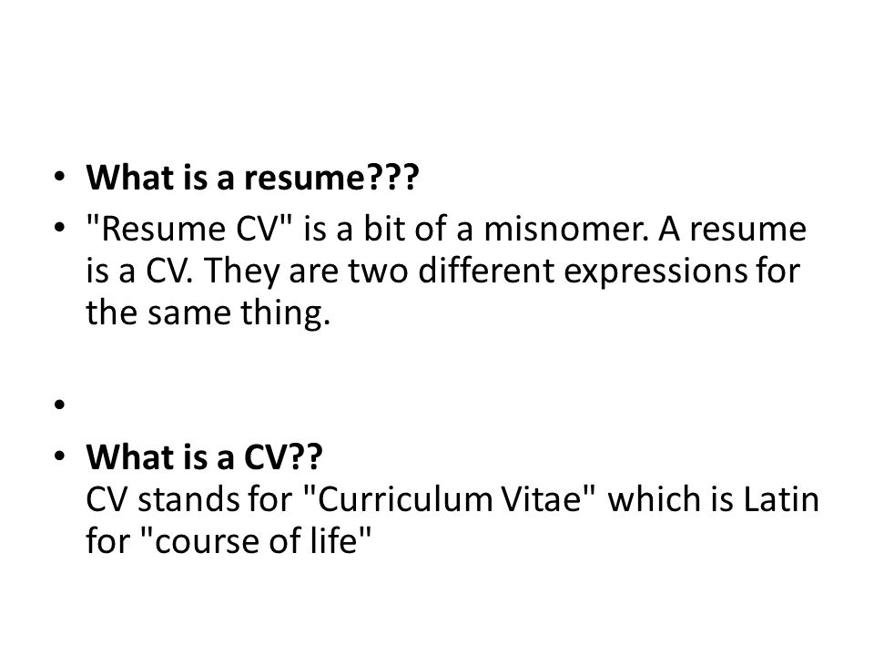 best are resume and cv the same contemporary simple resume