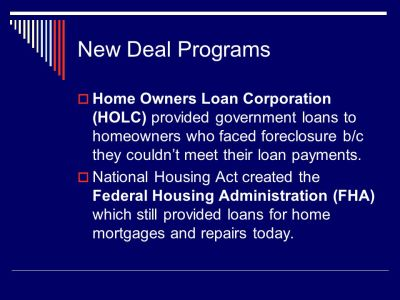 New Deal. - ppt download