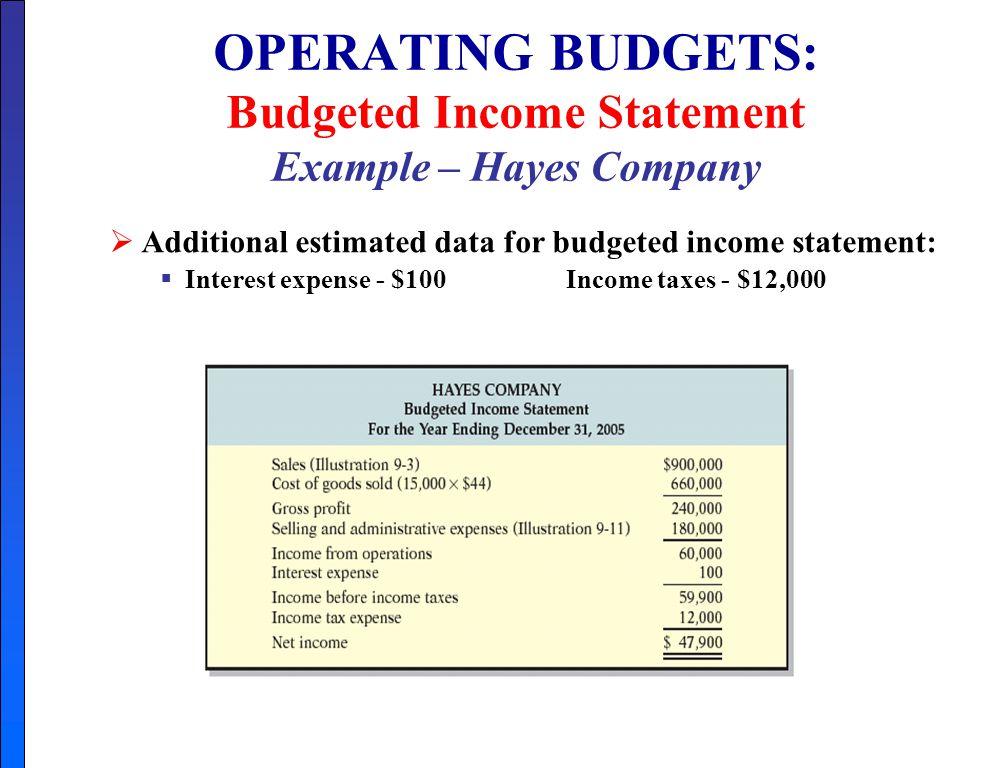 income statement format - sample income statement
