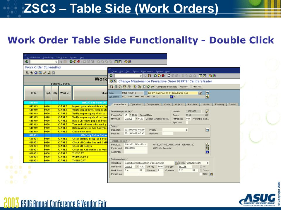 Graphical Work Order Scheduling in SAP - ppt download - work order table