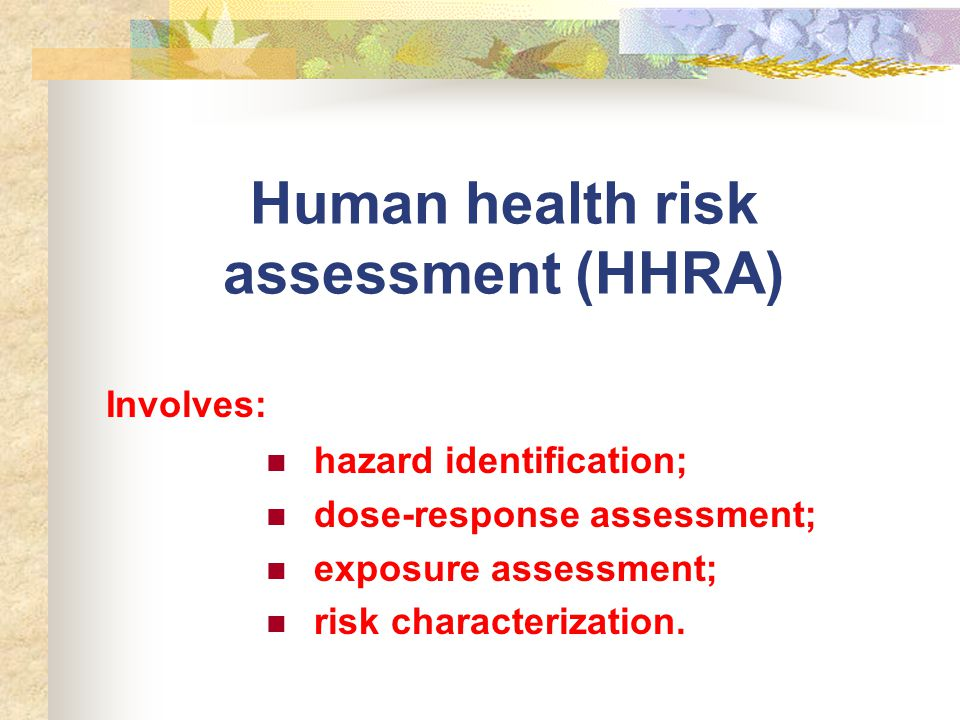 Theories in Environmental Risk Assessment - ppt video online download - health risk assessment