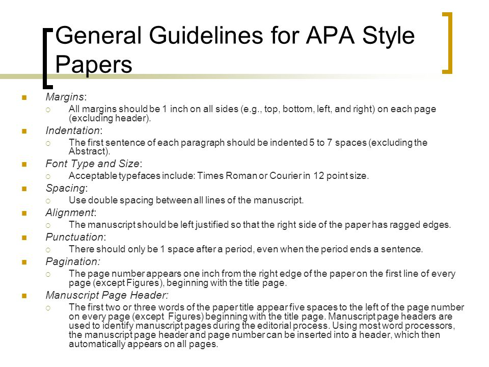 Research Paper Format Apa Example