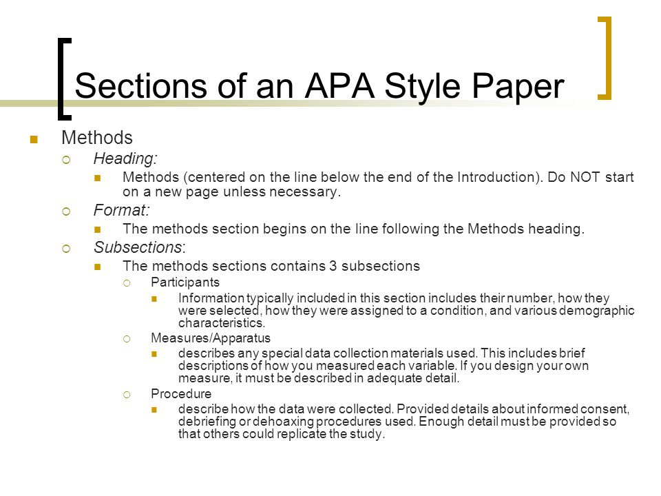 Apa research paper sections Term paper Help rkcourseworkeqjo