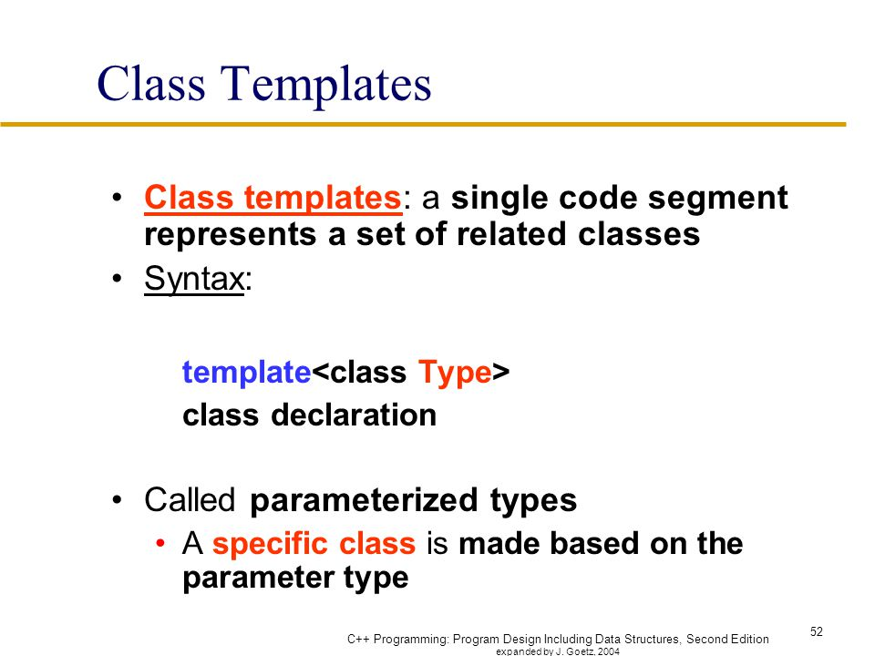 template classes - Josemulinohouse - class template