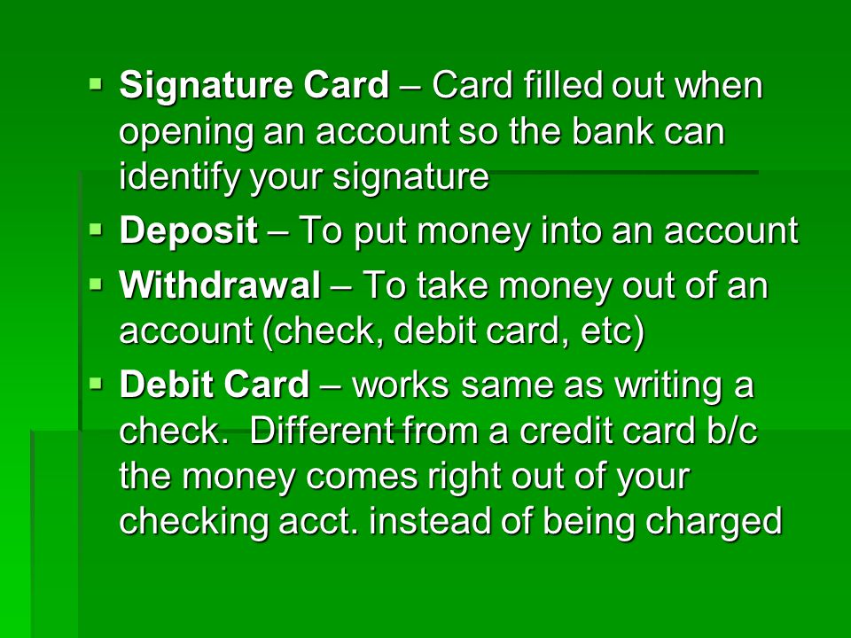 Math, Banking, and Credit Unit - ppt download