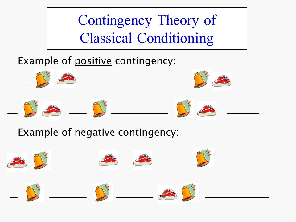 Contingency Theory of Classical Conditioning - ppt video online download - examples of classical conditioning