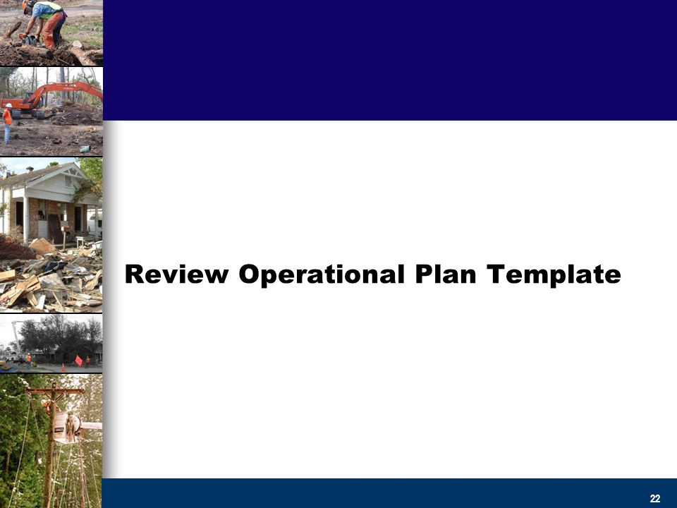 Creating Operational Debris Management Plans and Templates - ppt - Operational Plan Template