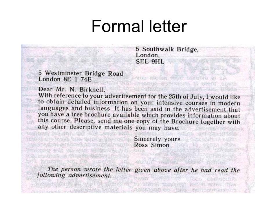 Formal Letters Formal Letter Formal Letter Vs Informal Letter