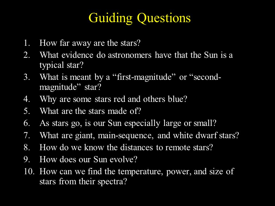 Guiding Questions How far away are the stars? - ppt download