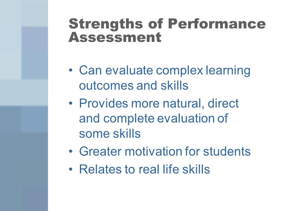 Performance Assessments - ppt video online download