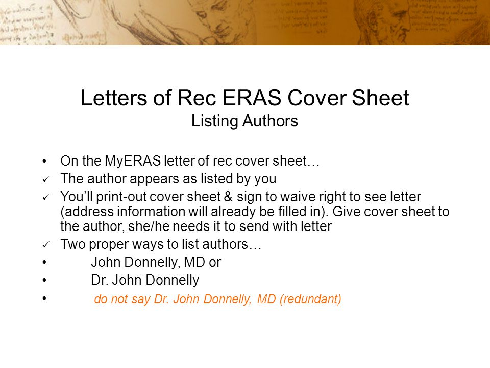 Eras recommendation letter cover sheet College paper Writing Service