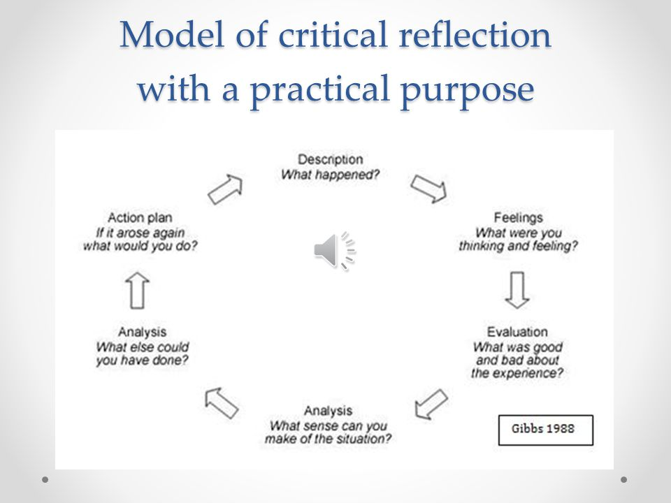 Critical reflection on learning essay Homework Example - April 2019