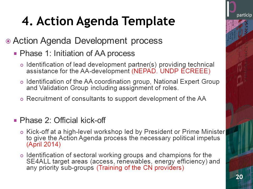 The Gambia SE4ALL Action Agenda - ppt video online download - political agenda template