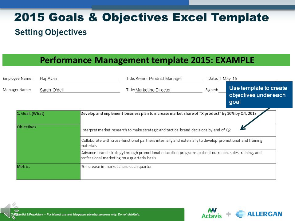 Setting goals and objectives template costumepartyrun template for goals and objectives accmission Image collections