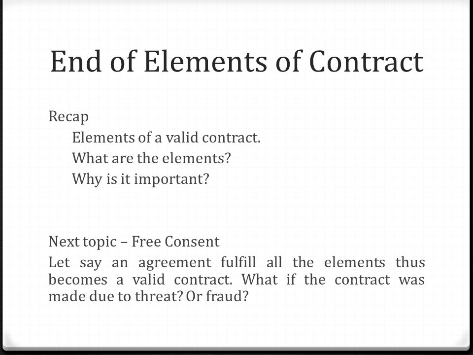 Certainty of Contract - ppt video online download