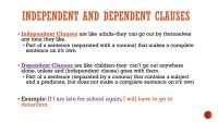 Independent and dependent clauses - ppt video online download
