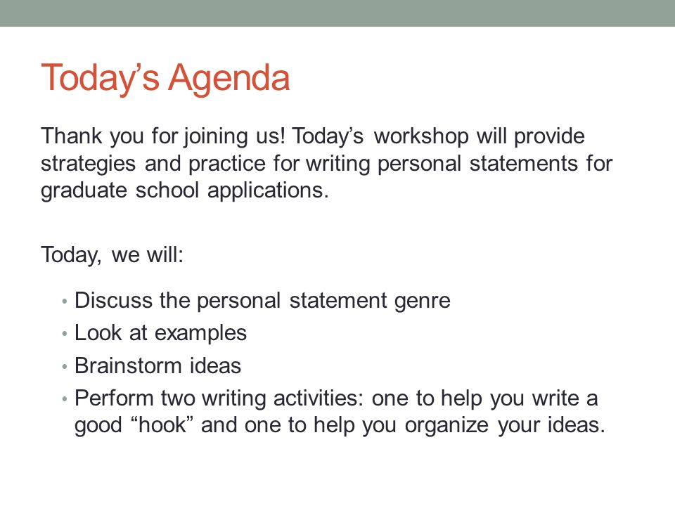 Writing Personal Statements - ppt download - personal statements