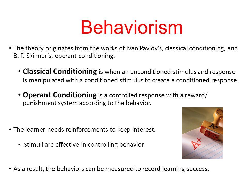 Understanding the classical conditioning in behaviorism College