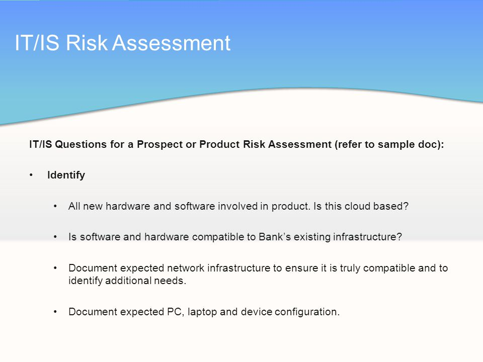 Product Risk Assessment oakandale