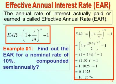 Topic # 03 TVM Effective Annual Rate and Annuities Senior Lecturer - ppt download