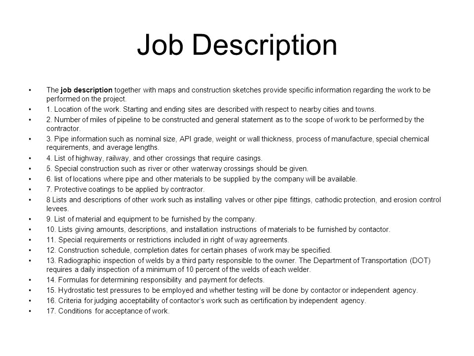 Construction Worker Job Description  Sample Ideas